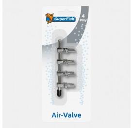 REPARTITEUR INOX VANNE A AIR 4 SORTIES 4/6mm BLISTERE